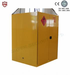 Quality Steel Yellow Big Flammable liquid Storage Cabinet With High Gloss Surface Double for sale