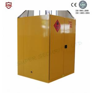 Quality Steel Yellow Big Flammable liquid Storage Cabinet  With High Gloss Surface Double Door for sale