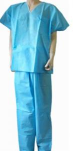 China Fluid Resistance Hospital Surgical Scrubs, Medical Scrub Suits With Pocket on sale