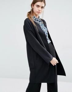 China Double Breasted Women'S Wool Blend Coat With Hood Black Color Handsome on sale