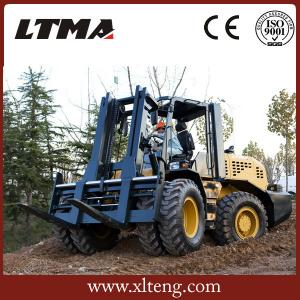 China low price competitive price 10 ton rough terrain forklift with price on sale