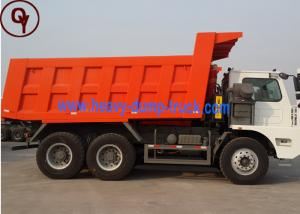 China 50T Heavy Duty Mineral Dump Truck / Mining Dumper 6X4 19m3 Volume HOWO Made on sale