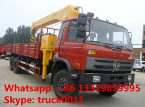 China factory sale best price dongfeng 6*4 LHD 8-12tons truck with crane, hot sale dongfeng 210hp diesel truck mounted crane on sale