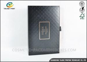 China Magnetic Closure Black Cardboard Boxes , Square Gift Boxes For Hair Straightener on sale