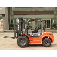 Solid Tires 2.5 Ton Rough Terrain Forklift Trucks With 4500mm Triplex Mast