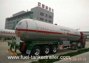 China Fuel Semi Trailer With LPG Gas Storage Tanks 56000 Liters Anti - Corrosion on sale