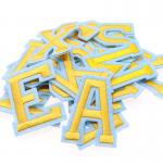 Alphabet Embroidered Letter Patches 2 In 1 Sticker Iron On Self Adhesive Badges