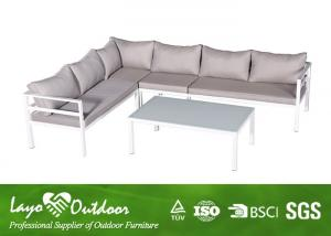 China Fashion Patio Seating Sets Aluminum Corner Sofa Sets With Alum Material on sale