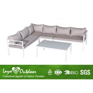 China Fashion Patio Seating Sets Aluminum Corner Sofa Sets With Alum Material on sale