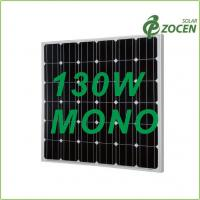 Black Iridescent Blue 130W Monocrystalline Solar Panels with 0 - 3% Positive Output