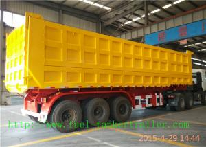 Quality Heavy duty Dump Semi Trailer , Mechanical Suspension / air suspension trailer for sale