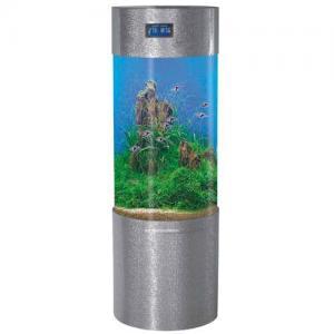 China Aquarium Tanks - Cylindrical Silver Fish Jar on sale