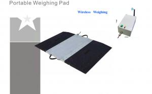 China Dynamic Vehicle Truck Axle Scales , Wireless Portable Axle Truck Tester 800x430x30mm on sale