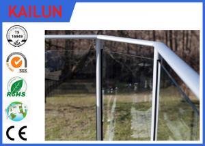 China Balcony Handrail Extruded Aluminum Fence , 35 Mm Dia Anodized Aluminium Balustrade Profiles on sale