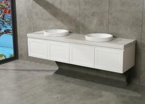 China Carrara White Marble Counter MDF Bathroom Cabinets Vanity MDF Board Material on sale