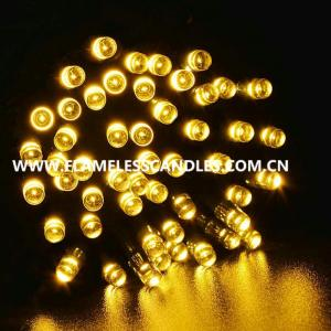 China Warm White Battery Powered LED String Lights / Rechargeable Battery Operated Fairy Lights on sale