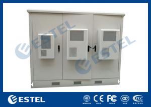 China Les télécom extérieures ont assemblé le matériel en acier galvanisé d'immersion chaude de Cabinet de station de base on sale