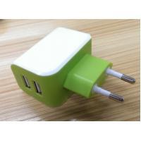 European Plug Multi USB Travel Charger 3.1A Dual USB Port For IPhone / Galaxy