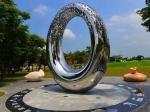 Artificial Style Outdoor Metal Sculpture , Abstract Outdoor Metal Art Sculpture