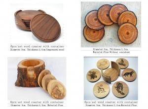 China best selling wood tea coaster , custom wood coaster , blank wood coasters on sale