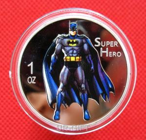 China Hot Sale Silver Plated custom coin / Super Man Challenge Coin Custom on sale