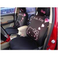 10pcs car seat cover hello kitty auto car cushion black color car supplies