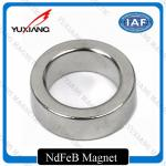 Spindle Motor Neodymium Ring Magnets , Strong Neodymium Magnets Bright Silver