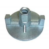Cast wing nut with screws for concrete wall shuttering system