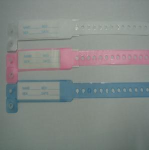 China insert card pvc medical id bracelet hospital wristbands on sale