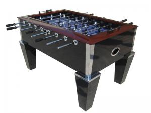 China Deluxe Soccer Game Table 5FT Wood Top Rail With Metal Corner Chrome OEM on sale