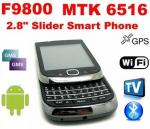 Teléfono móvil F9800A con la PANTALLA Qwerty de Keyboard+TOUCH, GPS Android2.3 de WIFI TV del resbalador
