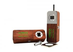 China Rosewood Herbal And Wax Vaporizer / Atman Hachi Portable Vaporizer 1500 MAh Battery on sale