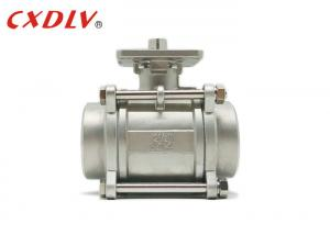 China CF8M 1000wog Hydraulic BSPT 1 2 Inch Threaded Ball Valve Price Stainless Steel on sale