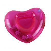Red Sweat-heart Shape Inflatable Drink Holder PVC Pool Floating Holder 18*18cm