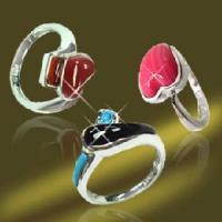925 Sterling Silver Finger Semi-Precious Stone Ring (RSK90233)