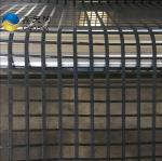 High tensile strength polyester geogrid coating with PVC for road construction