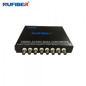 China Fiber Coaxial Video Converter 8BNC 1 Fiber Video Transmitter and Receiver for CCTV on sale