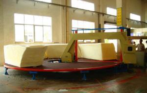 China High Performance Foam Cutting Machine , Circle Horizontal Cutter With Invertor Control on sale