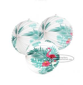 China Flamingo Accordion Style Paper Lanterns Craft Decorative Paper Lanterns on sale