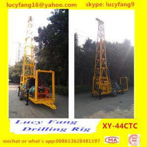 China Trailer mounted Diamond Wireline Core Drilling Rig on sale