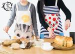 Cute Animals Women Kitchen Apron with Pockets Extra Long Ties For Cooking