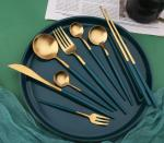 Stainless Steel Cutlery Flatware Set with Peacock Blue Color New Arrival NC099