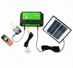 China portable solar system with LED light and phone charger on sale