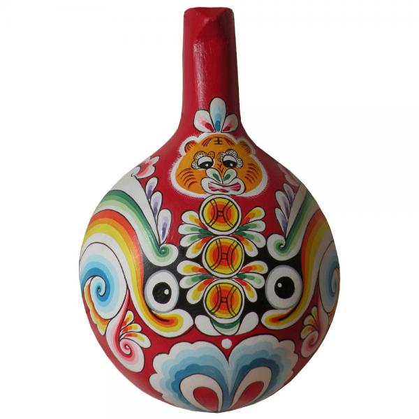Chinese Gift Traditional Handicrafts Facial Masks Wooden Ladle For