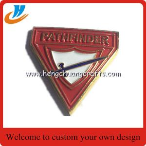 China Custom company logo design badge pin with button pin pantone color on sale