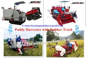 China Paddy Combined Harvester with rubber track on sale