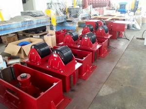 China 15 T Hydrulic Lifting Bolt Adjustment  Pipe Roller Stands , CE Pipe Welding Rollers supplier