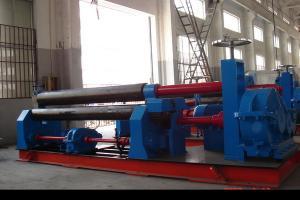 China Dobladora 245Mpa simétrico mecánico del rollo de la placa de tres rodillos on sale