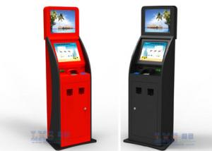 China Cash , Credit Card and Checks Interactive Information Bank Self Service Kiosk on sale