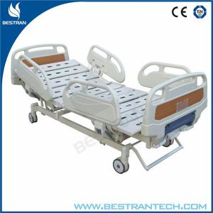 China Reliable Three Crank Manual Nursing Bed , Manual Hospital Beds With Steel Bed Base on sale